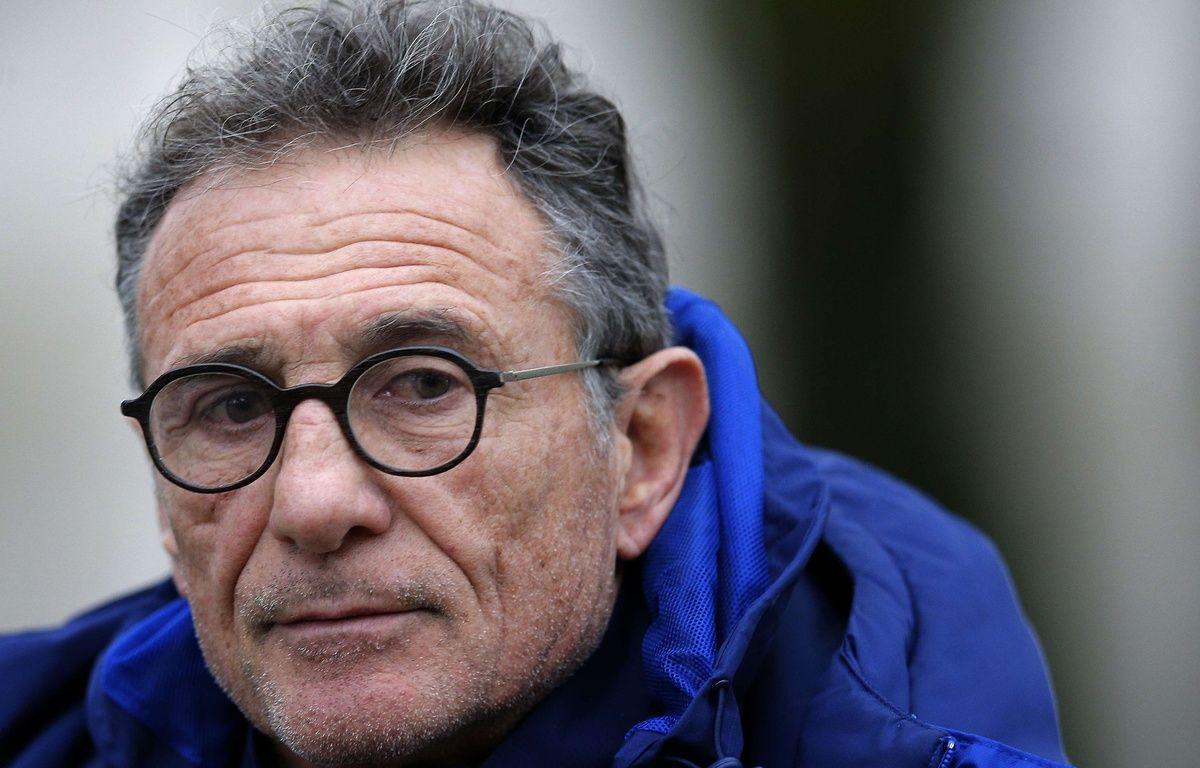 Guy Novès, le sélectionneur du XV de France, le 9 février 2016.  – Christophe Ena/AP/SIPA