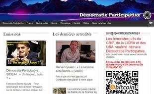 Capture de la page d'accueil du site «Démocratie Participative», le 07 novembre 2018.