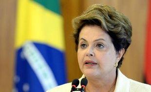 La présidente brésilienne Dilma Rousseff à Brasilia, le 16 juin 2014