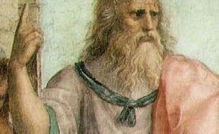 Platon, détail d'une fresque de Rapahël, «L'Ecole d'Athènes» entre 1509 et 1512