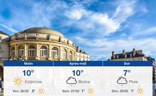Météo Rennes: Prévisions du jeudi 25 février 2021