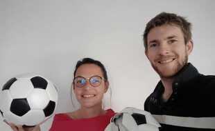 Agathe et Jean-Baptiste, à l'origine de Ballons&Co