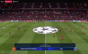 Le match a été diffusé sur Facebook.
