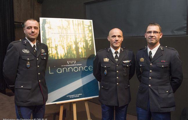 Trois des quatre témoins gendarmes participants au court-métrage de la Sécurité routière (Illustration).
