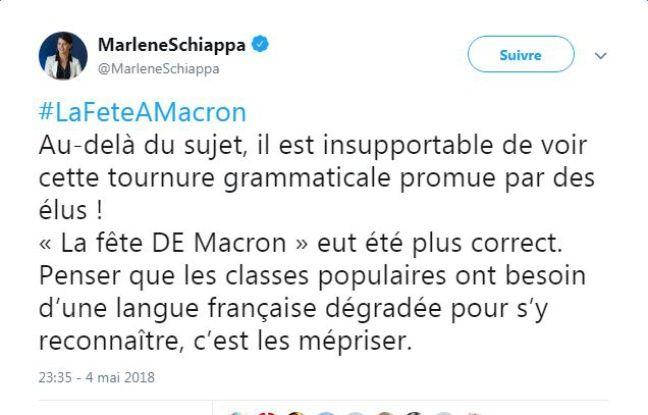 Quand Marlène Schiappa tente de donner une leçon de grammaire sur Twitter