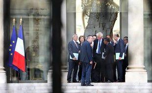 Les réprésentants de l'Afep reçus à l'Elysée le 23 juillet 2012.