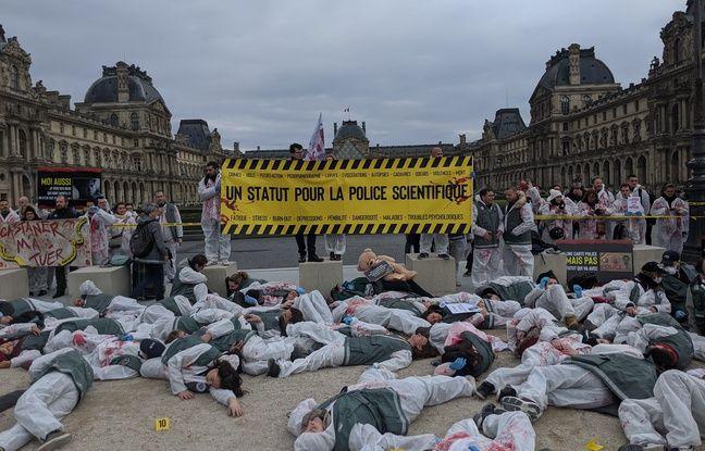 Retraites, conditions de travail: Les «experts» de la police manifestent devant la pyramide du Louvre