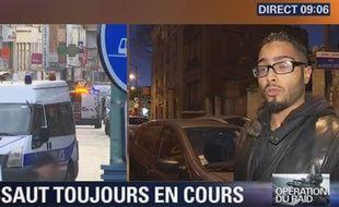 L'homme qui se présente comme le propriétaire où les suspects se sont retranchés dans le centre-ville de Saint-Ouen.