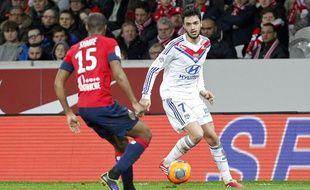 Clément Grenier lors du match entre Lille et Lyon le 23 février 2014.