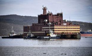 La centrale nucléaire flottante russe «Akademik Lomonossov» à Mourmansk, le 19 mai 2018.