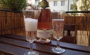 Strasbourg, le 8 mai 2016. - Les grandes caves alsaciennes commencent à faire du crémant rosé bio.