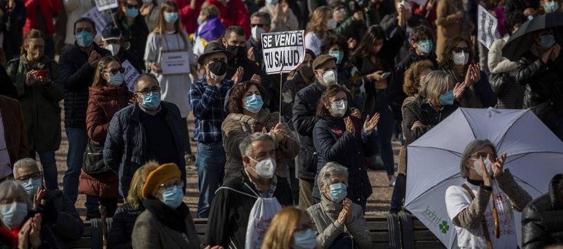 Manifestation des soignants à Madrid