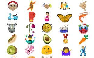 Quelques emojis parmi les 72 nouveaux présentés par le Consortium Unicode.