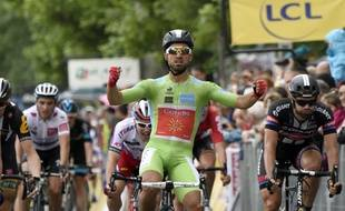 Le maillot vert du Critérium du Dauphiné a bien maîtrisé le sprint de la quatrième étape à Sisteron mercredi, y remportant sa deuxième victoire d'étape de la semaine. ERIC FEFERBERG