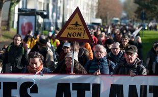 Des opposants au projet d'aéroport de Notre-Dame-des-Landes. M.Pattier/Sipa