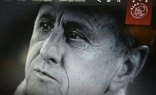 Cliché de la légende Johan Cruyff, mise en ligne sur le site officiel de l'Ajax Amsterdam, le 24 mars 2016