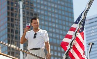 Leonardo DiCaprio dans Le Loup de Wall Street, réalisé par Martin Scorsese.