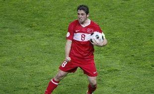 Le Turc Nihat, héros du match face à la République tchèque (3-2) dimanche 15 juin 2008, au premier tour de l'Euro 2008.