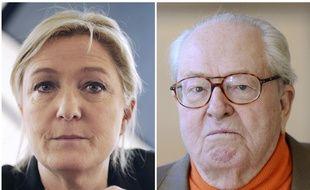 Marine Le Pe et Jean-Marie Le Pen.