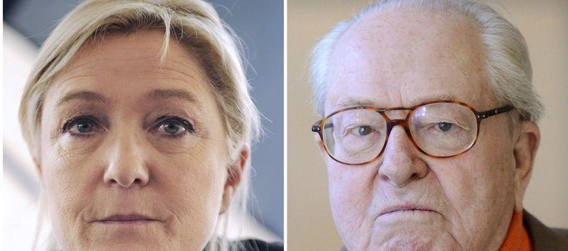 Marine et Jean-Marie Le Pen.