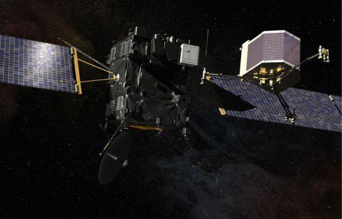 La sonde spatiale Rosetta et l'atterrisseur Philae ont été lancés en 2004. – CNES/EKIS France, 2013
