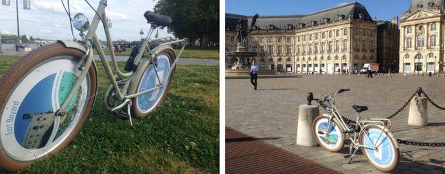 Les vélos équipés des publicités.