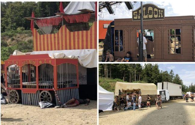 La régie, la cabine du DJ et un des bars de la Freak Show Party.