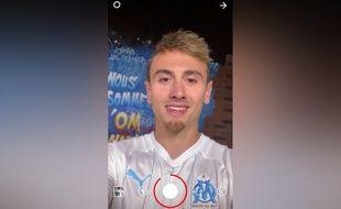 Après un gros suspense, Valentin Rongier a dit bonjour aux supporteurs de l'Olympique de Marseille le 3 septembre 2019.