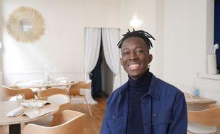 Mory Sacko dans son restaurant Mosuke, à Paris, le 12 octobre 2020