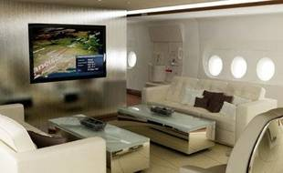 Le salon privé de l'A380 version luxe