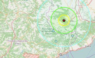 L'onde du séisme a touché les Alpes-Maritimes.