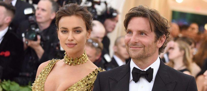 Le mannequin Irina Shayk et l'acteur Bradley Cooper à New York.