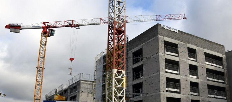 Un immeuble en construction à Toulouse (image d'illustration).