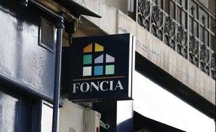 Le logo d'une agence Foncia le 1er octobre 2014.