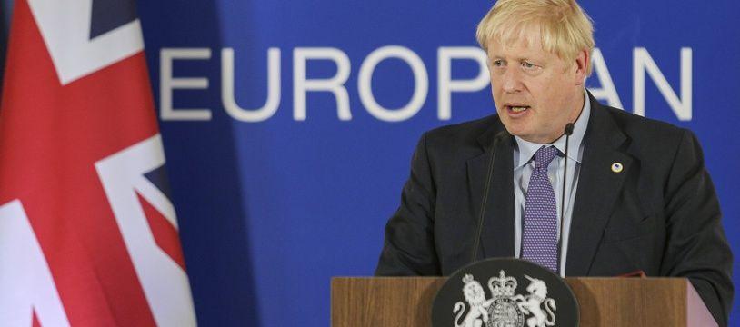 Boris Johnson à Bruxelles, le 18 octobre 2019.