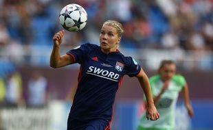 Ada Hegerberg, ici lors de la dernière finale de Ligue des champions contre Wolfsburg, le 24 mai à Kiev.