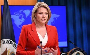La porte-parole du département d'Etat, Heather Nauert, a été nommée ambassadrice à l'ONU par Donald Trump, le 7 décembre 2018.