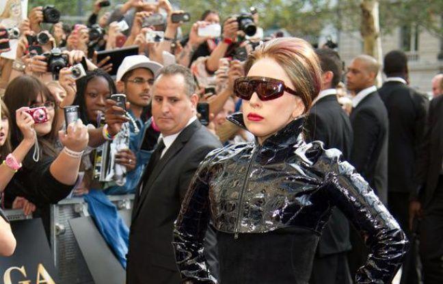 Lady Gaga sur les Champs-Elysées à Paris, le dimanche 23 septembre 2012.