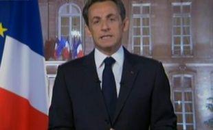 Capture d'écran de la vidéo des voeux de Nicolas Sarkozy pour 2011 (prise le 31 décembre 2010)