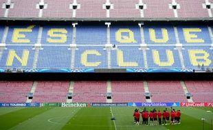 Le Camp Nou, stade du FC Barcelone, le 31 mars 2014 avant un match de Ligue des champions.