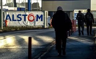 Des salariés d'Alstom sur le site de Petite-Forêt (image d'illustration).