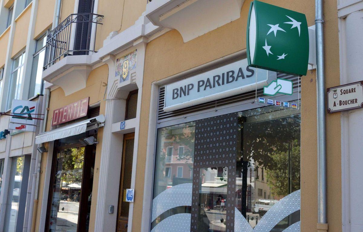 Une agence BNP Paribas à Aix-les-Bains. – ALLILI MOURAD/SIPA