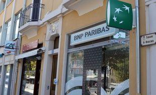 Une agence BNP Paribas à Aix-les-Bains.