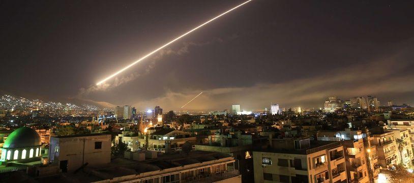 Les Etats-Unis, la France et le Royaume-Uni ont procédé à des frappes aériennes en Syrie, le 14 avril 2018.