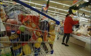 Chariot dans un supermarché
