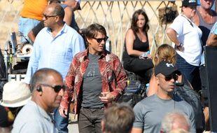 L'acteur américain Tom Cruise sur le tournage de «Mission: Impossible 5», au Maroc, le 25 septembre 2014.