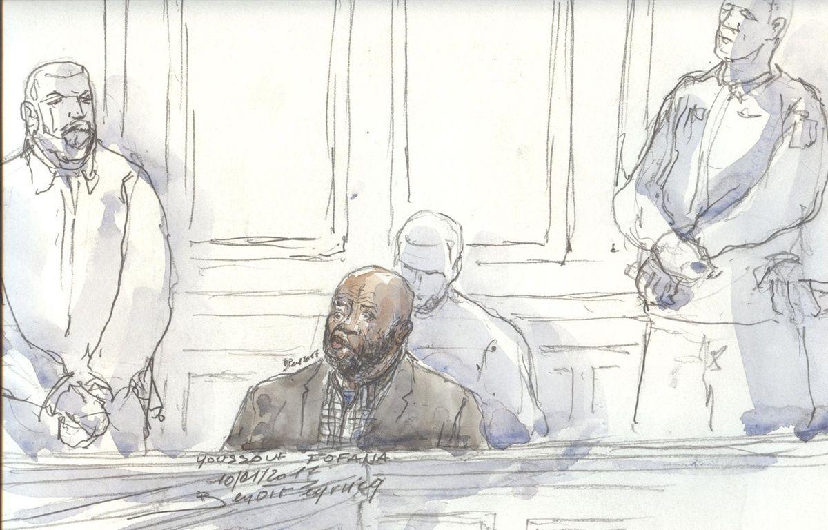 Youssouf Fofana, au Palais de justice de Paris, le mardi 10 janvier. – Benoit PEYRUCQ / AFP