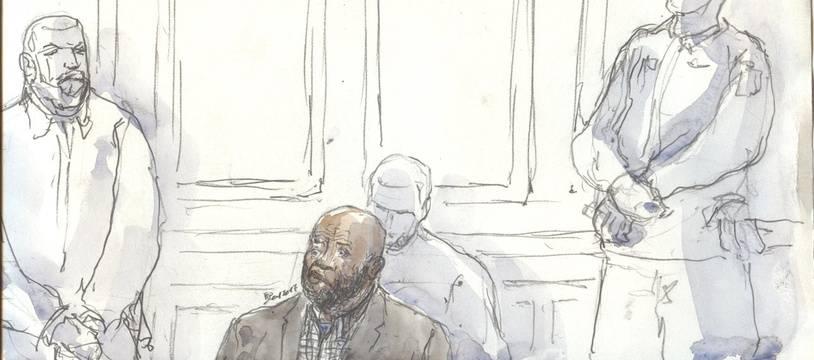 Youssouf Fofana, au Palais de justice de Paris, le mardi 10 janvier.