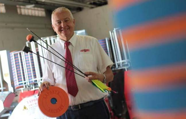 Jean-Michel Laporte, le PDG du groupe Laporte dans son usine de Biot (Alpes-Maritimes)