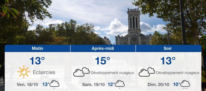 Météo Saint-Etienne: Prévisions du jeudi 17 octobre 2019